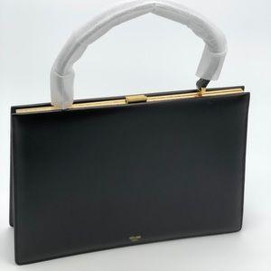 Celine Clasp Leather Medium Handbag NEW